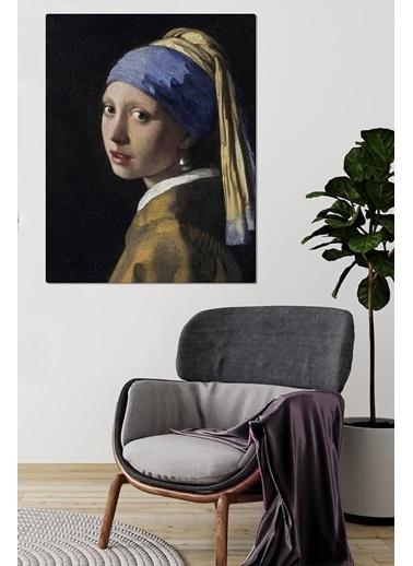 MarkaEv Canvas İnci Küpeki Kız Baskılı Tablo 0082 Renkli